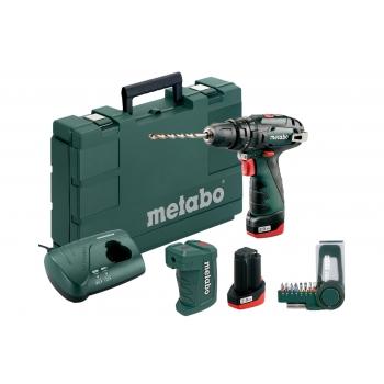 Ударная дрель-шуруповерт аккум. METABO PowerMaxx SB Basic + PA + BitBox 9 шт.(600385910)